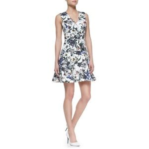 Rebecca Taylor Floral Print ALine Sleeveless Dress
